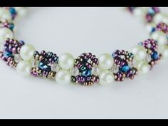 USED MATERIALS: 1. Czehc beads nr.10 ,nr.8 2. Crystal Rondelle 3×20th 3. Glass pearl round spacer louse beads 6 mm - (1/2)