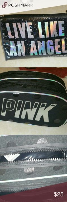 TWO VS MAKEUP BAGS TWO very gently used (once/trip to Disneyland) makeup bags.  Selling as a set only.  Very good condition. Victoria's Secret Other