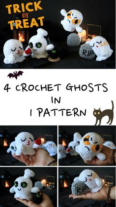 Halloween Crochet Patterns, Crochet Doll Pattern, Crochet Toys Patterns, Amigurumi Patterns, Stuffed Toys Patterns, Crochet Dolls, Halloween Gifts, Halloween Decorations, Ghost Decoration