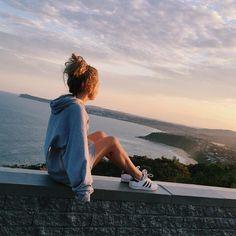 รูปภาพ girl, beach, and adidas