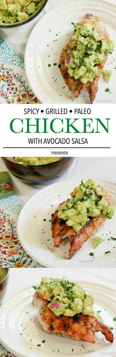 This Spicy Grilled Chicken Dish is PALEO and WHOLE 30 and one of the BEST grilled chicken recipes around. In fact, I share TWO TOP SECRET ingredients that make this the most delicious and moist grilled chicken around. Popular Pin!