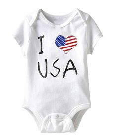 Look at this #zulilyfind! White 'I Love USA' Bodysuit - Infant by American Classics #zulilyfinds