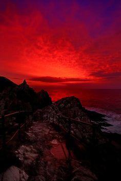 Sunrise over Polperro Harbour ~ Cornwall, England