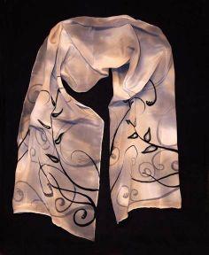 Art Deco scarf by Alananat on Etsy, $39.00