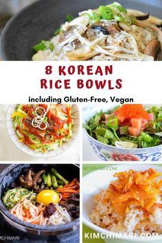 8 Korean Rice Bowl Recipes for Every Diet - Korean Party Food - Asian Chicken Parmesan Recipes, Broccoli Recipes, Rice Recipes, Asian Recipes, Vegetarian Recipes, Healthy Recipes, Healthy Food, Party Recipes, Amigurumi