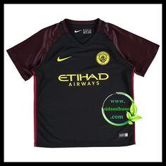 Fotballdrakter Manchester City Barn Bortedraktsett 2016-2017 Manchester City, Barn, Sports, Mens Tops, T Shirt, Hs Sports, Supreme T Shirt, Converted Barn, Tee Shirt