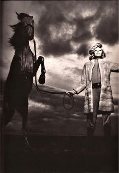 Photo by Helmut Newton, 1970.