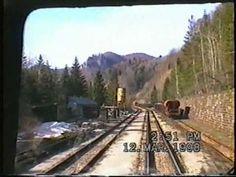 Vlak mezi Bánskou Bystricou a Turčianskými Teplicemi - krásná příroda