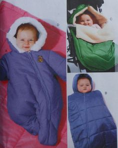 Baby Snowsuit, Bunting, and Blanket Sewing Pattern