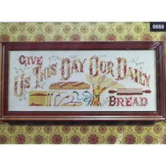 Paragon GIVE US THIS Day Our Daily Bread Stamped Cross Stitch Kit by NeedleLittleTherapy on Etsy Cross Stitch Material, Cross Stitch Kits, Cross Stitch Patterns, Crewel Embroidery Kits, Embroidery Thread, Vintage Cross Stitches, Our Daily Bread, Vintage Stamps, Linen Fabric
