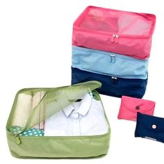 Storage Bag Korean Style 1pc Travel Home Luggage Storage Bag Clothes Storage Organizer Portable Pouch Case 4 Colors D1