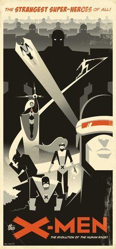 X-Men alternative movie poster by Eric Tan