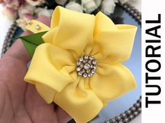 diy flowers hacks are available on our internet site. Take a look and you wont be sorry you did. Flower Hair Bows, Diy Hair Bows, Diy Bow, Diy Ribbon, Ribbon Crafts, Diy Crafts, Ribbon Embroidery Tutorial, Ribbon Flower Tutorial, Hair Bow Tutorial