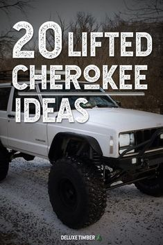 Check out these 20 lifted and super clean Jeep Cherokee XJs for ideas on your next mod or build! Lifted Xj, Lifted Jeep Cherokee, Jeep Grand Cherokee, Jeep Xj Mods, Jeep Wj, Jeep Cars, Suv Cars, Jeep Cherokee Xj Accessories, Blue Jeep