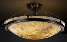 Justice Design Round Semi-Flush Alabaster Bowl Ceiling Lights with Ring Suspension from the Alabaster Rocks! Collection - pieces of real alabaster are hand-selected and suspended in resin, offers a truly original mosaic look. When illuminated, each fixture displays its unique and varied colors, even more dramatically than solid alabaster. Contemporary Ceiling Lighting - Brand Lighting Discount Lighting - Call Brand Lighting Sales 800-585-1285 to ask for your best price!