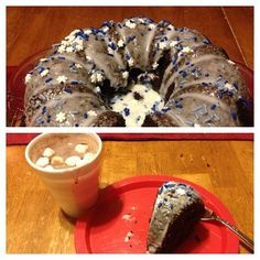 Snowflake cake as an after school treat during the Christmas Season