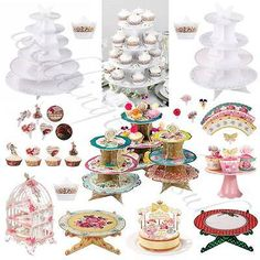 Truly scrumptious #vintage style cake #stands #vintage style tea #party accessorie,  View more on the LINK: http://www.zeppy.io/product/gb/2/191278462150/