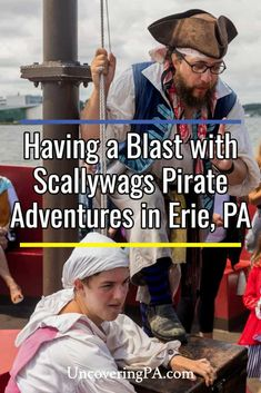 Scallywags Pirate Adventures in Erie, Pennsylvania is a great family activity when exploring northwestern PA. Find out everything you need to know to experience this fun and interactive cruise on Presque Isle Bay. Presque Isle State Park, Pirate Cruise, Erie Pennsylvania, Pirate Adventure, Great Lakes Region, Fun Games For Kids, Travel Articles, Having A Blast, Family Activities