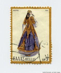 Creta, Watercolor Illustration, Postage Stamps, Egypt, Greece, Culture, Prints, Greek Costumes, Door Bells