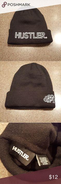 Hustler Beanie Black New Hustler Beanie Black New hustler Accessories Hats
