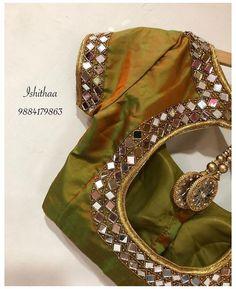 Simple Blouse Designs, Stylish Blouse Design, Simple Designs, Mirror Work Blouse Design, Mirror Work Saree Blouse, Sari Blouse, Blouse Neck, Designer Blouse Patterns, Shadi Dresses