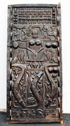 Door from the Dogon people of Mali -wood