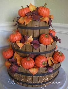 WOW! This is amazing!! Barrels O' Pumpkins! #halloween