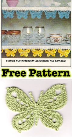 Crochet Butterfly with Free Pattern #Crochet #Butterfly #Pattern
