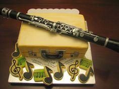 Clarinet Cake by maryknsweetcakes,