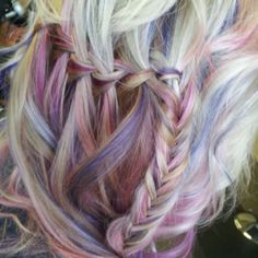The color was done by Lauren Guthier @Fringe Salon and braid by moi!