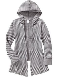 Girls Waffle-Knit Hooded Cardigans | Old Navy
