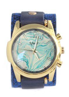 Relógio Azul Klein Snake