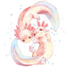 Day 7 : Under water creatures Axolotl