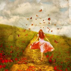 """art by aimee stewart images   Her Yellow Brick Road"""" by Aimee Stewart   Redbubble"""