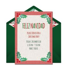 Free Christmas Invitation Templates Online Invitations From  Pinterest  Holiday Invitations Party .