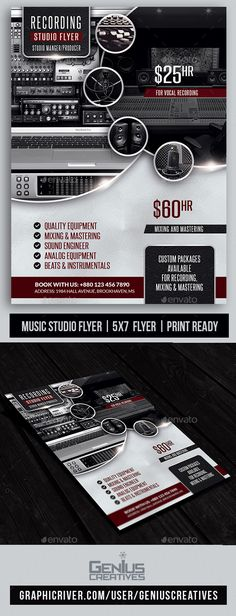 Recording Studio / Music Studio Flyer Template PSD