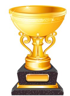 Golden Cup Trophy PNG Clipart Picture
