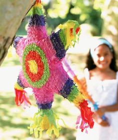 FIll your party's piñata with dollar-store wearables, like sunglasses and necklaces, for fun photos later.
