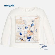 "Camiseta de niña para bebe MAYORAL manga larga ""tendiendo"""