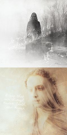 Catelyn + Sansa Stark: So mighty was the Mother's childless cry. A cry that ran through Hades, Earth & Heaven. #asoiaf