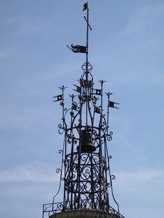 Campanile de la tour de l'Horloge, Cotignac, Var, France -
