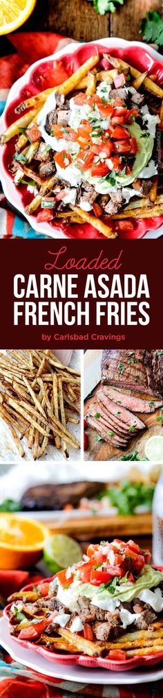 Loaded Carne Asada French Fries