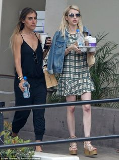 Girls' day: Emma Roberts was spotted grabbing coffees in Los Angeles with a friend, as she...