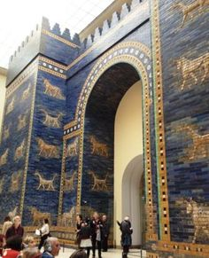 Ishtar Gate, Pergamon Museum Berlin.  Saw this when Berlin was divided.  This was in East Berlin & we went thru checkpoint Charlie. It's beautiful.