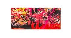 A painting serie of graffiti Street Art by BENOIT B. / STREET URBAN GRAPHICS OIL ON CANVAS - OIL ON STEEL - @ : benoitb2001@gmail... T : +33 686.772.838 RAYGUNS / BANG BANG /