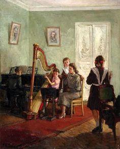 The Music Lesson by Alexander Lyubimov