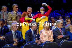 20140913 - BRUSSELS, BELGIUM: Herman Van Rompuy, Grand Duke Henri of Luxembourg, Queen Mathilde of Belgium and Executive chairman Special Olympics European Summer pictured during the opening ceremony of the Special Olympics European Summer Games in Brussels, 20140913. The Special Olympics European Summer Games take place from 13 to 20 September 2014. Philippe BOURGUET/bePress Photo Agency