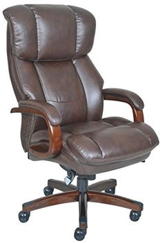 LaZBoy 44940 Fairmont Big  Tall Executive Bonded Leather Office Chair  Biscuit Brown *** Details can be found by clicking on the image.Note:It is affiliate link to Amazon.