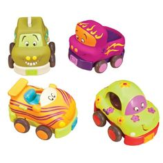B. Wheeee-Ls Pull Back Toy Vehicle Set With Sounds, 2015 Amazon Top Rated Play Vehicles #Toy