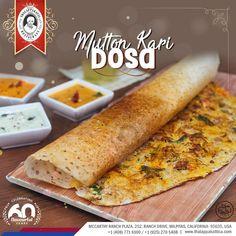 Mutton Kari Dosai - Stuffed with Mutton masala is the crispy dosa, a delicious dish by itself.  📍Location: McCarthy Ranch Plaza, 252, Ranch Drive, Milpitas, California- 95035, USA  📱 http://thalappakattica.com/  | Contact: (408)942 8425 | (408)945 8425  #DindigulThalappakatti #Thalappakatti #ThalappakattiRestaurant #Biryani #Worldfamousauthenticbiriyani #BestBiriyani #TheBestBiriyani #SeeragaSambaBiriyani #OrderPartybiriyanionline #Yelp #California #USA